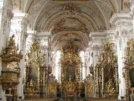 Klöster in Bayern Klosterkirche Aldersbach Innenansicht