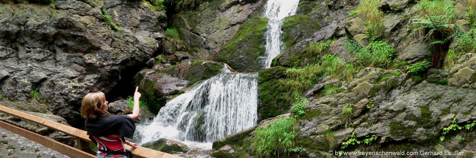 Bayern Natururlaub im Bayerischen Wald - Risslochwasserfall bei Bodenmais
